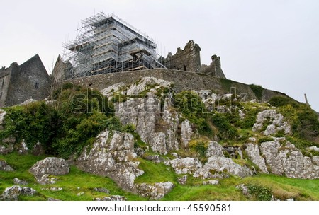 Rock of Cashel in renovation