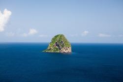 Rock of the Diamond, Diamond bay in Martinique