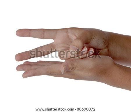 Rock paper scissors game played children sometimes adults. Minimum two players. Goal to take fist and hit other hand three times on third time change fist to either Rock or Paper or Scissors.