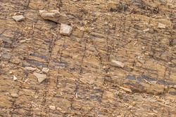 Rock patterns at the Deakin Anticline, ACT on a spring afternoon in September 2020