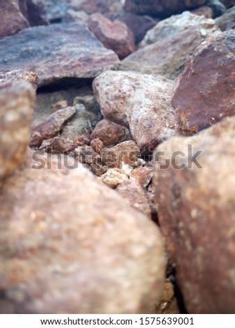 rock pieces , stone pieces