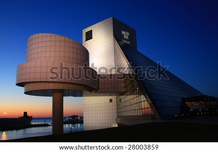 Rock & Roll Hall of Fame and Museum in Cleveland, Ohio