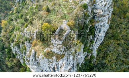 Rock shelters (rockhouse, crepuscular cave, bluff shelter, abri) close to Istarske Toplice (Terme Istriane) are the biggest natural feature of its kind in Istria, Croatia #1237763290