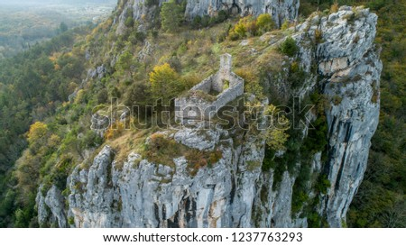 Rock shelters (rockhouse, crepuscular cave, bluff shelter, abri) close to Istarske Toplice (Terme Istriane) are the biggest natural feature of its kind in Istria, Croatia #1237763293