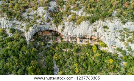 Rock shelters (rockhouse, crepuscular cave, bluff shelter, abri) close to Istarske Toplice (Terme Istriane) are the biggest natural feature of its kind in Istria, Croatia #1237763305