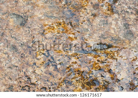 Rock soak with water texture. - stock photo