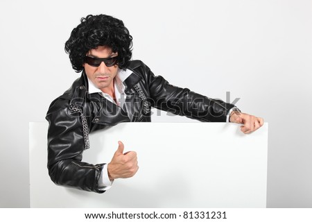 Rock-star with a white board