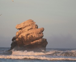 Rock that looks like Stone face in Morro Bay California