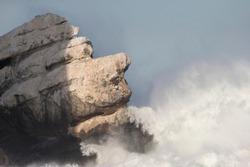 Rock that looks like Stone face in Morro Bay California