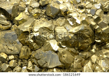 Rock with mineral crystals or gold just found by Geologist in a mine