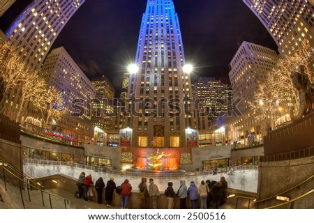 Rockefeller Center skating rink - Manhattan - New York