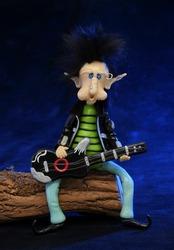 Rocker dwarf playing the guitar