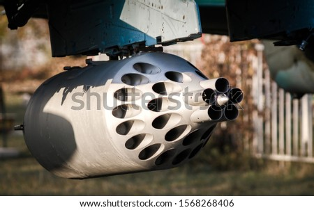 rocket launcher weapon military army helicopter fighter close up