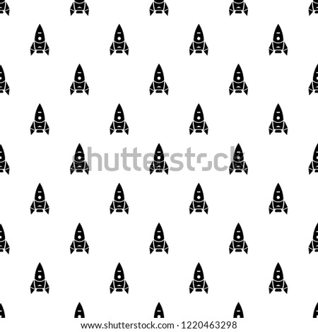 Rocket spacecraft pattern seamless repeating for any web design
