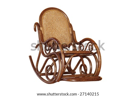 Rocking chair isolated 1