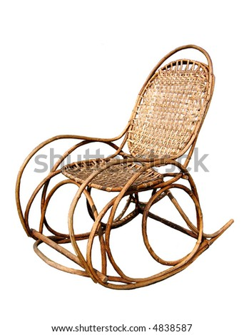 Rocking chair. Isolated.