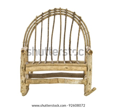 rocking chair love seat on a white background