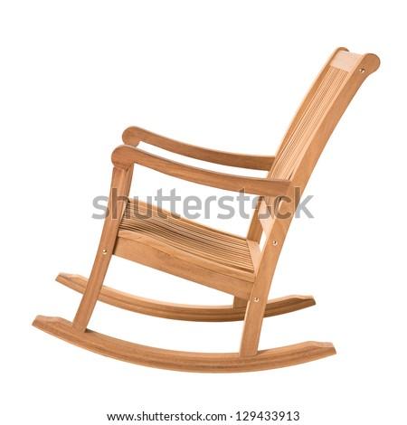 Rocking Chair On White
