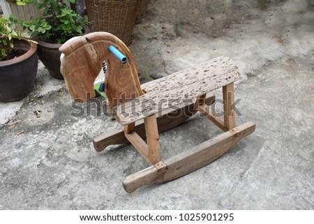 rocking chair rocking horse rocking motion #1025901295
