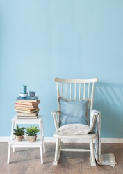 rocking chair with book