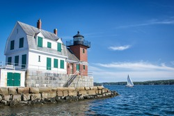 Rockland Harbor in Maine, USA