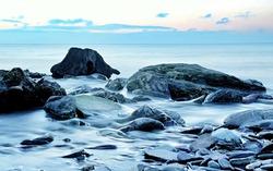 Rockpools on Wembury Beach, Devon, UK