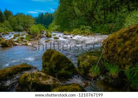 Rocks And River Beautiful Sciene #1210767199