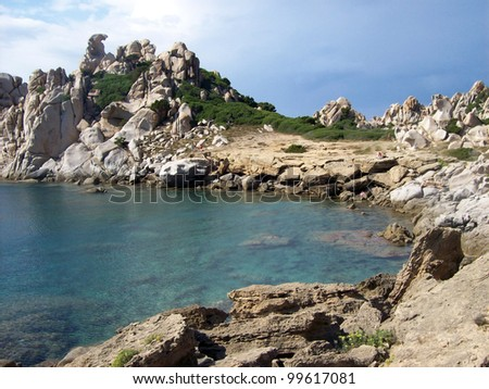 Rocks and sea in Sardinia - Italy