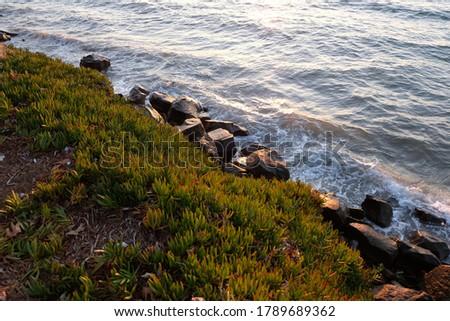 Rocks and waves view in Aegean Sea Stok fotoğraf ©