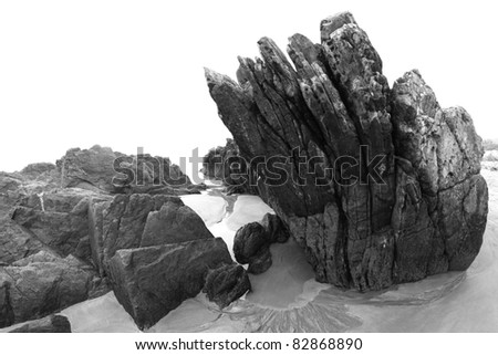 Rocks (black and white photo)
