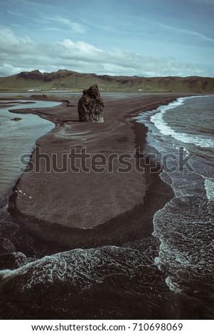 rocks formation on dyrholaey...