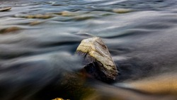 Rocks in a River Long Exposure