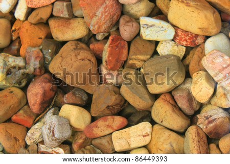 Rocks in a shallow pond