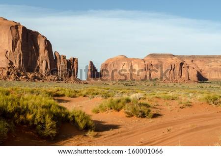 rocks in Monument Valley in Utah in America