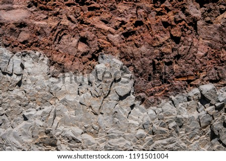 rocks layers, layered  red and grey rock background #1191501004