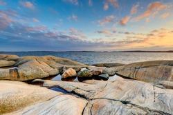 Rocks on coast, Gothenburg, Sweden