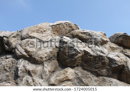 Rocks on the high mountains