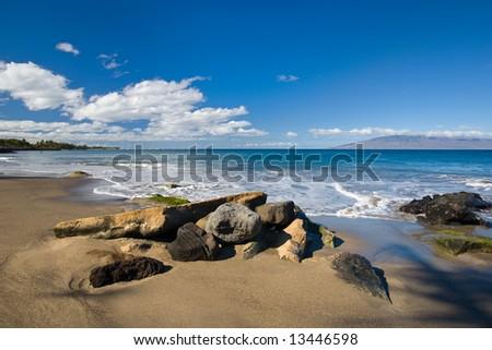 Rocks on tropical beach