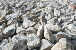 Rocks, small rocks or gravel Used for construction of buildings