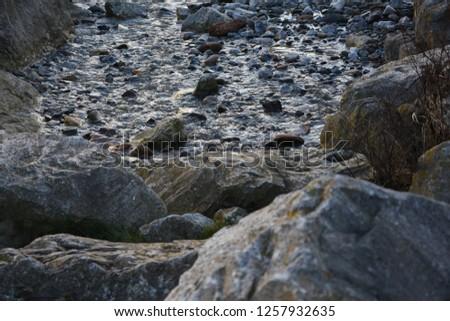 Rocks Stream Water