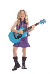 rockstar child playing guitar