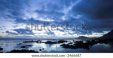 Rocky Beach, Betty Bay - Western Cape, South Africa - stock photo