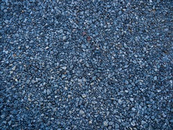 Rocky Blue Gravel Rock Road Pattern with Specks of Red Mud