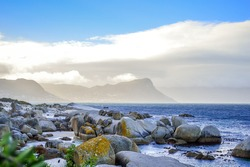 Rocky boulder's beach is a turqoise and sheltered beach and a famous tourist destination in cape town South Africa