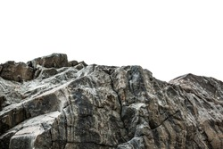 Rocky cliff at a park isolated on a white background