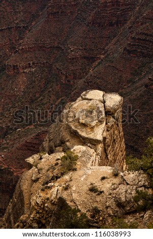 Rocky Cliff at Grand Canyon National Park