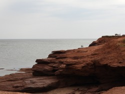 Rocky cliffs at the Thunder Cove. PEI