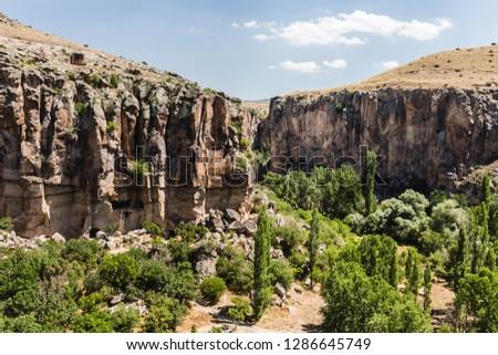 Rocky cliffs of Cappadocia Turkey #1286645749