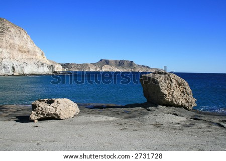 Rocky coast at Cabo de Gata, Spain