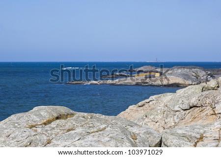 Rocky coast at sea archipelago
